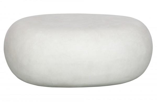 vtwonen Couchtisch PEBBLE Weiss 31x65x49cm
