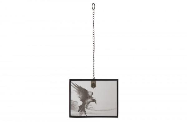 BePureHome Xpose Groß Fotorahmen 18x23cm Mit Kette Metall Schwarz