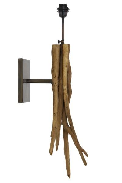 Light&Living Wandleuchte BLUMA 25x18x70 Holz Natural Braun