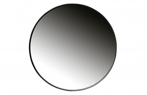 woood Doutzen Runder Spiegel Metall Schwarz Ø80cm