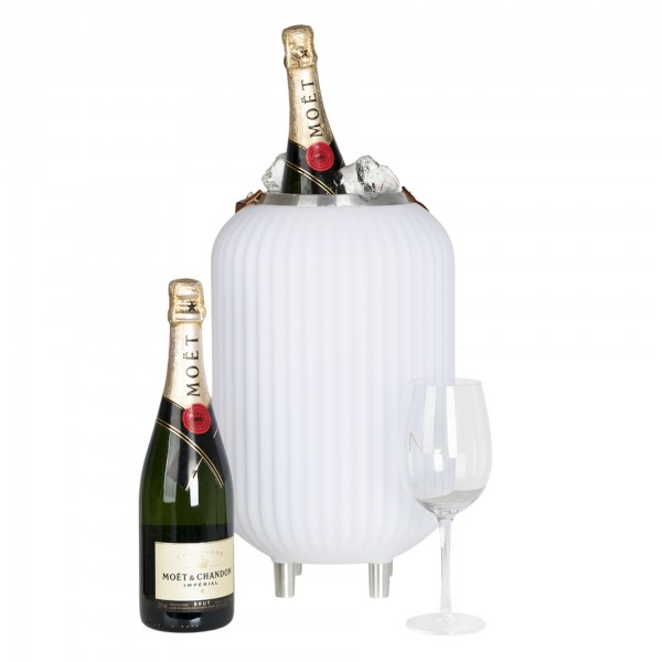 NIKKI.AMSTERDAM The.Lampion S Weinkühler 45cm mit Licht und Bluetooth-Lautsprecher