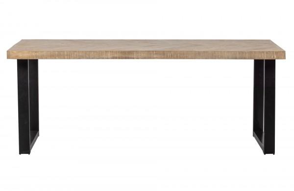 woood TABLO Esstisch Mango/Gräte 180x90 U -Fuß